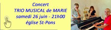 Bandeau concert trio musical