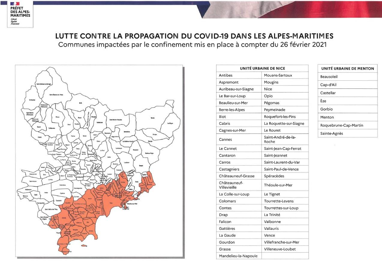 Confinement prefecture we