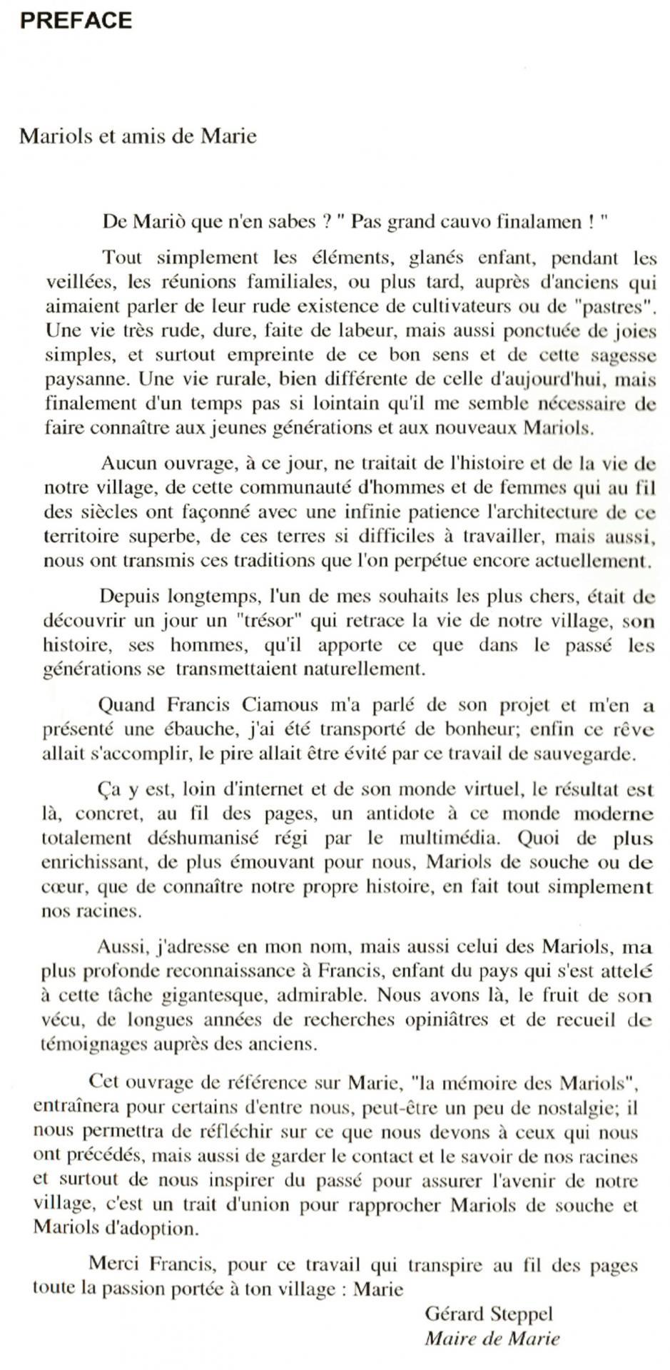 Francis la vie d antan preface