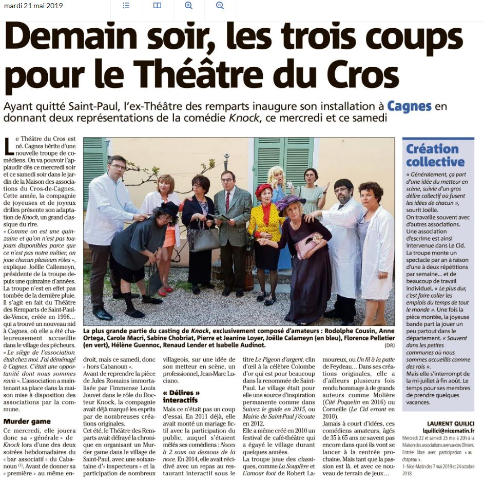 Le theatre du cros nm