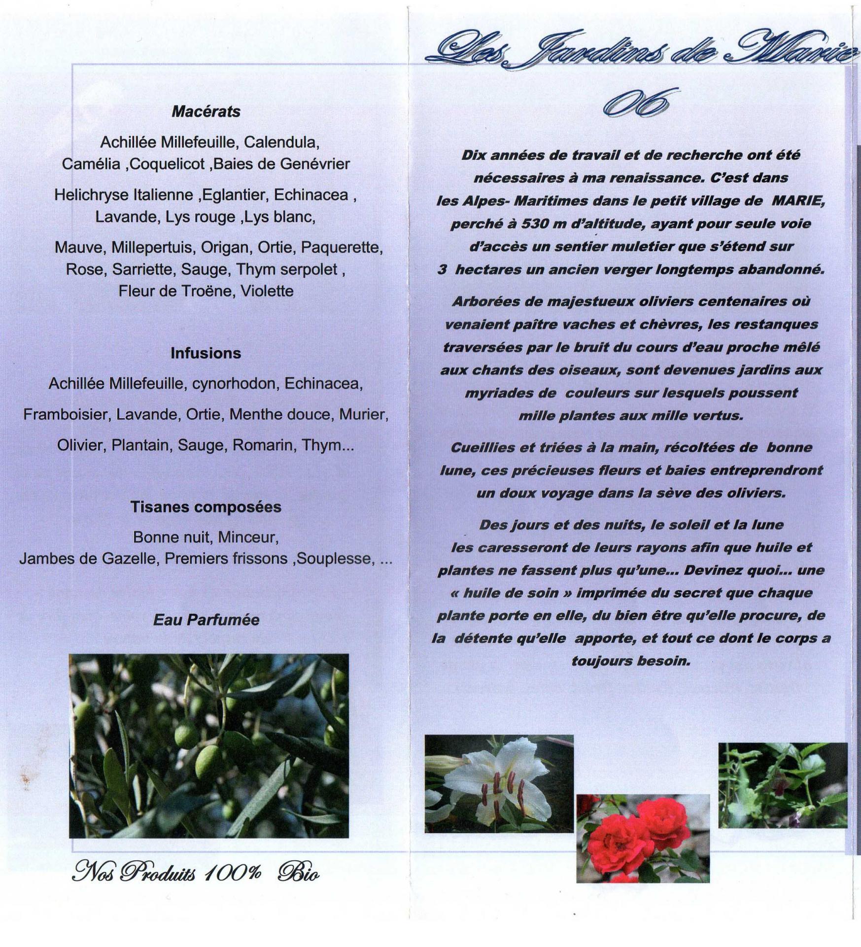 Les jardins de marie flyer 3
