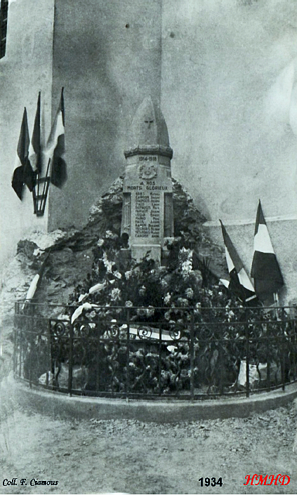 Monument aux morts 1934