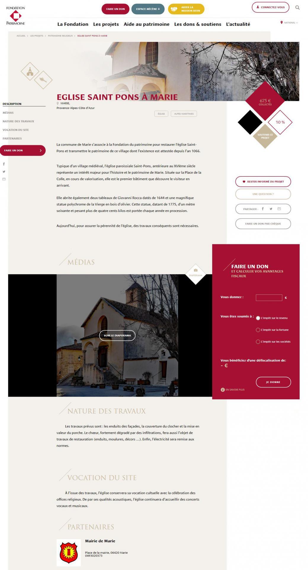 Page fondation du patrimoine