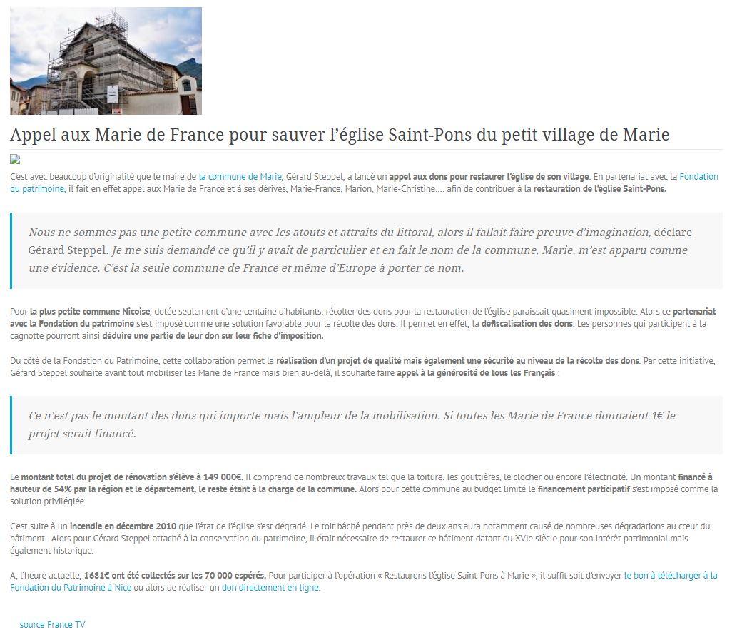 Provence news texte